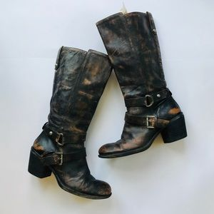 Nine West Dominick Distressed Leather Boots size 9